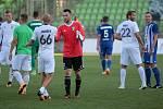 Karviná (v bílém) vs. Mladá Boleslav 1:1.