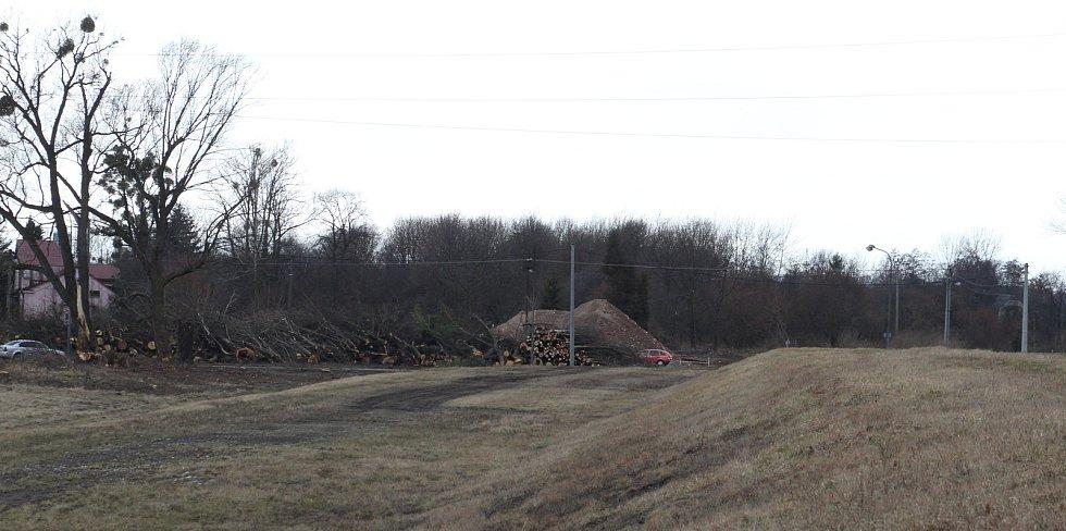 Snímek z příprav na stavbu.