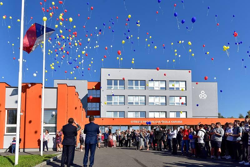 Karvinská SPŠ slaví 100 let od svého vzniku, Karviná, říjen 2021.