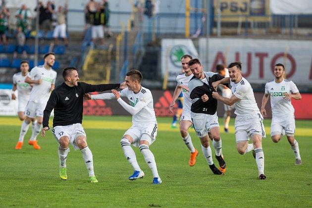 Odvetné utkání baráže oúčast vprvní fotbalové lize mezi FC Vysočina Jihlava a MFK Karviná.