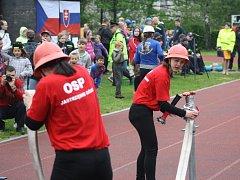 Soutěž mladých hasičů v Havířově.