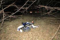 Nehoda motorkáře v Petřvaldě.
