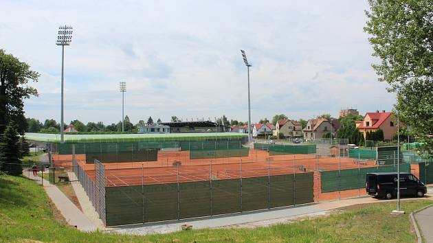 Fotbalový stadion v Karviné Ráji.