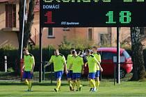 Fotbalisté Stonavy se mohli po delší době radovat z výhry.