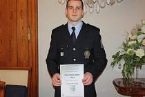 Slavnostní ocenění policistů. Havířovský policista Filip Švajný za záchranu školačky.