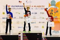 Damian Malczyk (uprostřed) z letošní Olympiády dětí a mládeže bral zlato.