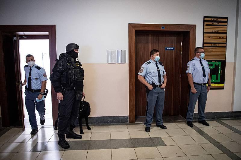 Soud s bohumínským žhářem Zdeněk K. na Krajskému soudu v Ostravě, 19. října 2021.