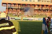 Utkání Baník Ostrava - Fotbal Třinec na stadionu v Havířově.