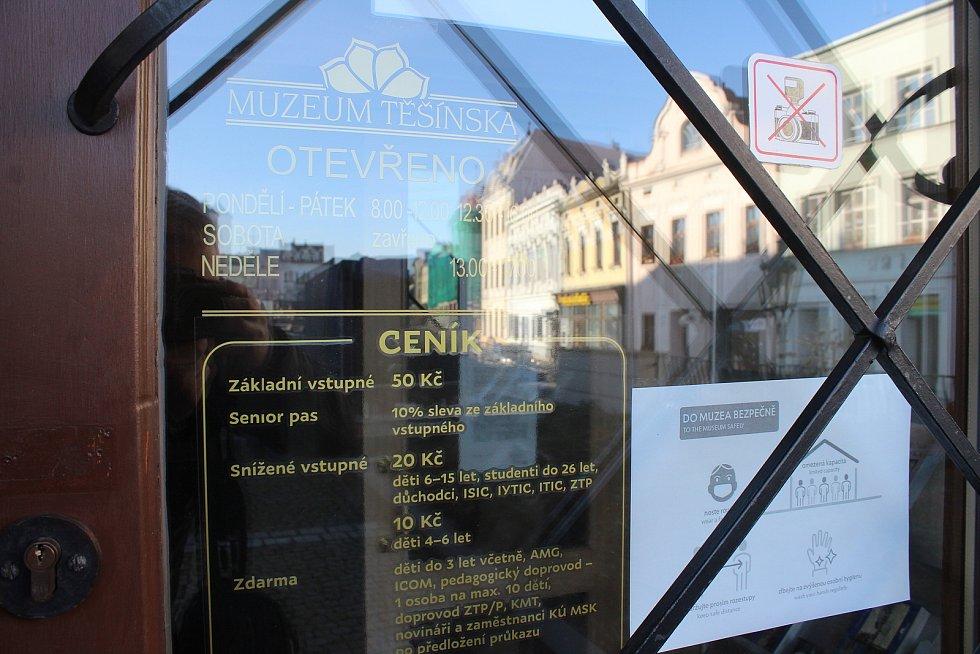 Karvinská pobočka Muzea Těšínska před svým uzavřením. Prosinec 2020.