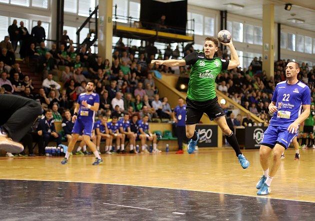 Házenkáři Karviné (vzeleném) vyřadili srbskou Niš a postoupili do osmifinále Challenge Cupu.