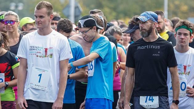 Na startu úspěšný český reprezentant moderního pětiboje Marek Grycz (číslo 1), vedle něj vítěz závodu Martin Ručka (v modrém).