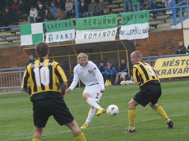 Karviná prohrála s Ostravou B po vyrovnaném boji.