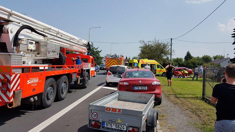 Vážná autonehoda na Stonavské ulici v Horní Suché.