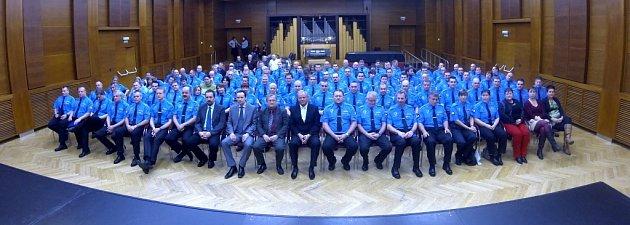 Slavnostní vyhodnocení činnosti Městské policie Havířov za rok 2013vKD Radost.