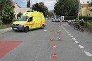 Tragicky skončil pád cyklisty v Albrechticích.