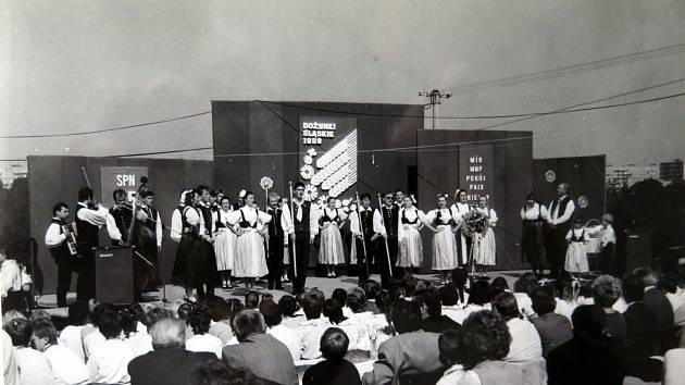 Slavnostní zahájení na pódiu zahrady Domu PZKO.