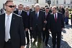 Prezident Zeman při návštěvě Karviné.
