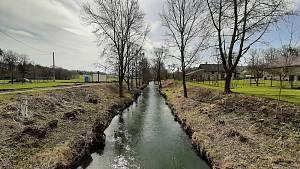 Videopohlednice, Horní Bludovice, podél havířovské Lučiny k Žermanické přehradě, jaro 2021.