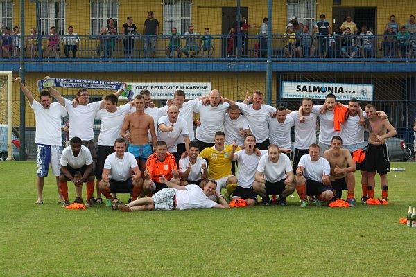 Petrovické mužstvo zvítězilo vokresním přeboru.