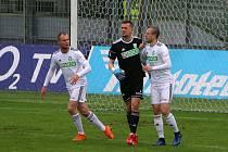 Martin Pastornický (v černém) podržel svůj tým chycenou penaltou.