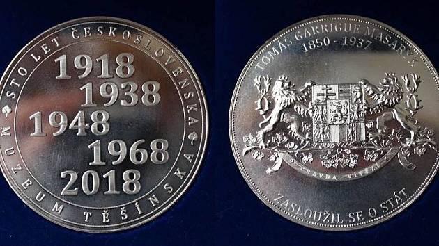 Muzeum Těšínska vydalo při příležitosti 100. výročí vzniku Československa pamětní medaili
