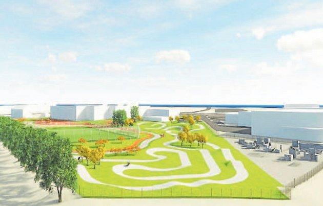 Studie představují podoby nového sportovního areálu, který by měl vbudoucnu vyrůst místo dnes již nevyhovujícího areálu za Obchodní akademií vKarviné-Hranicích.