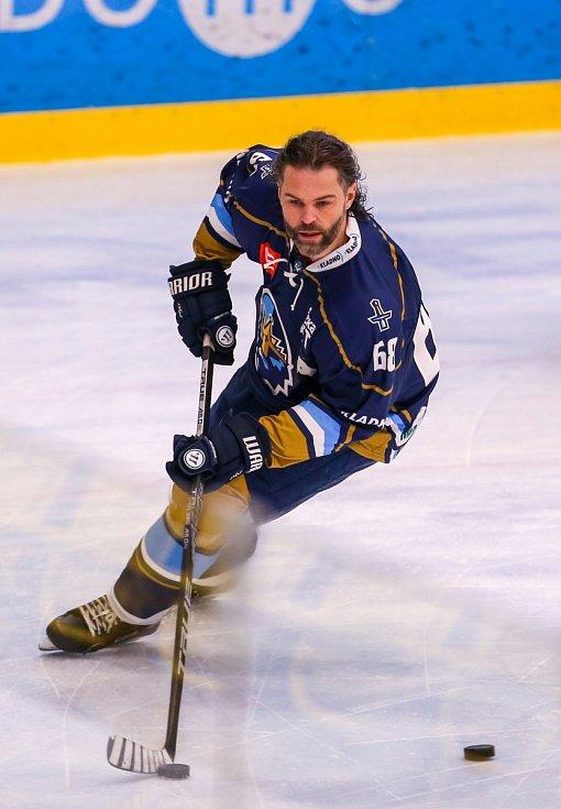 Jaromír Jágr se po roce objevil na mistrovském ledě. Se svým Kladnem vyhrál v Havířově.