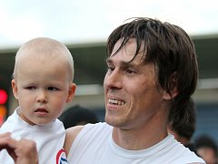 Jan Trousil se synem.