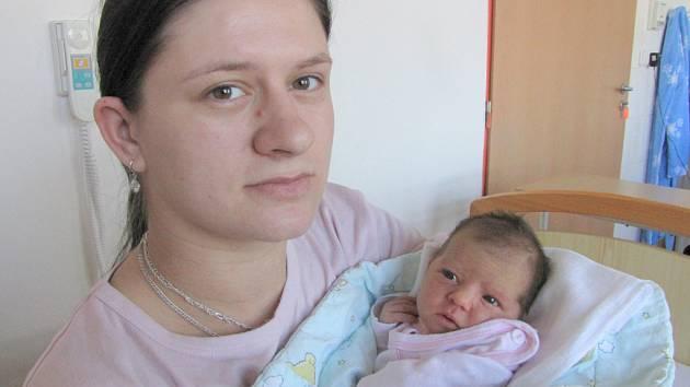 Natálie Kopasová, 23. dubna 2012, Havířov, váha: 3,13 kg, míra: 51 cm