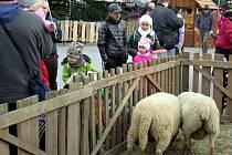 Vánoční městečko v Havířově je věnováno především dětem. Takto vypadalo o první adventní neděli.