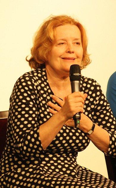 Slovenská herečka Magda Vašáryová na filmové přehlídce Kino na hranici.