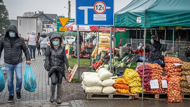 Trhy v Zabełkówe (Zabělkově), 24. října 2020.