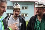 Natáčení komedie na motivy populárních knih Deník Ostravaka v areálu bývalého orlovského Dolu Žofie.
