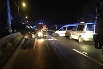 Nehoda na Závodní ulici v Těrlicku.