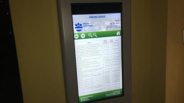 V Rychvaldě mají elektronickou úřední desku.
