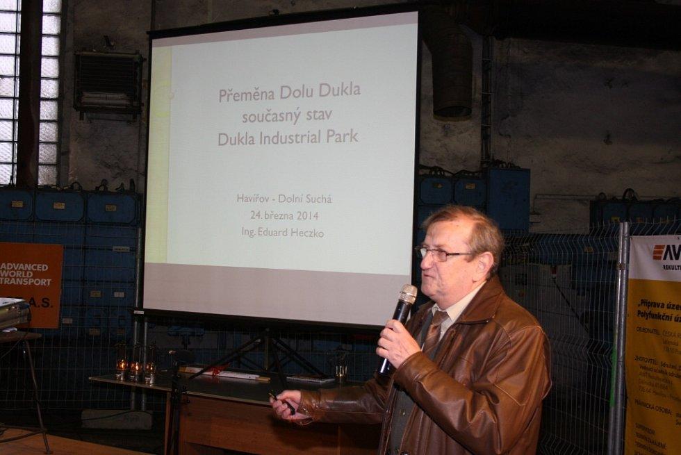 Slavnostní otevření průmyslové zóny Dukla v Havířově-Dolní Suché.