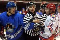Středeční okresní derby mezi týmy Orlové a Karviné dopadlo lépe pro domácí hokejisty Orlové.