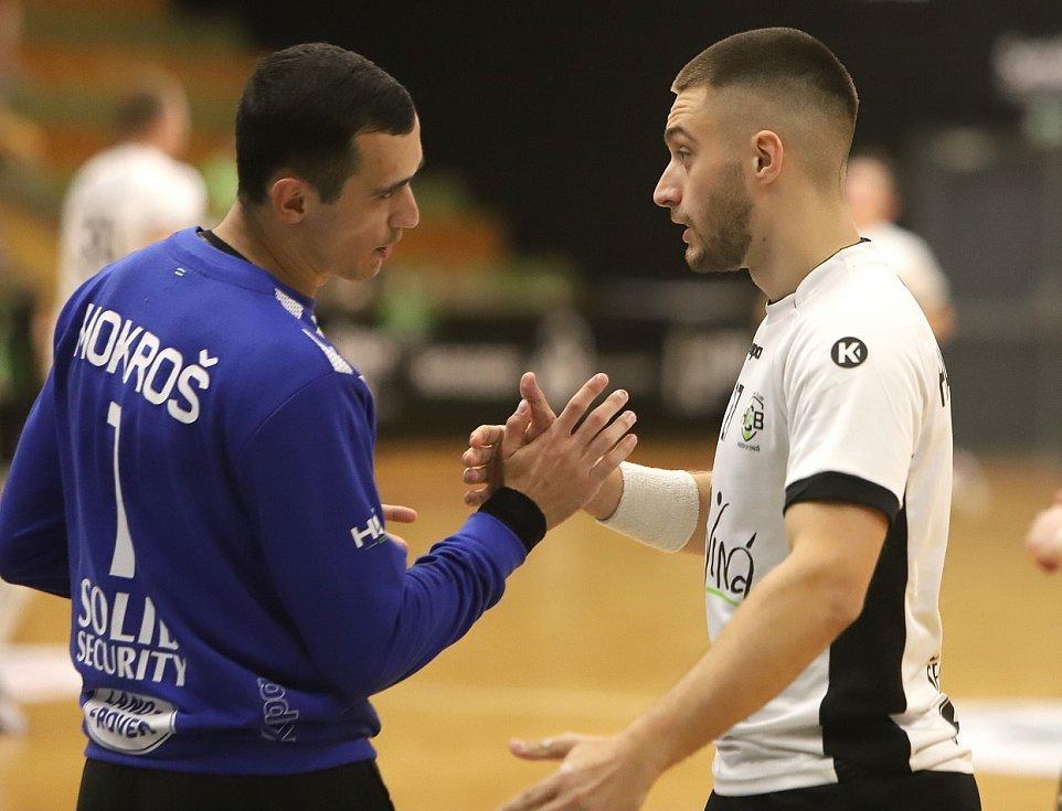 Petr Mokroš (vlevo) zachytal spolehlivě.