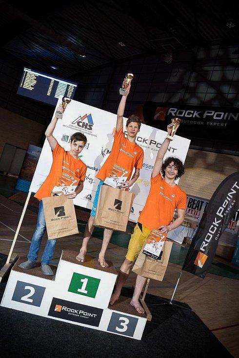 Martin Adamovský vyhrál pro změnu mezi chlapci do 16 let.