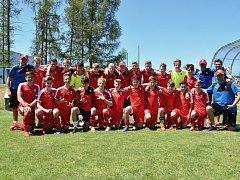 Vítězný tým krajské fotbalové akademie.