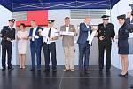 Objekt nového Integrovaného výjezdového centra (IVC) v Českém Těšíně. V budově sídlí PČR, městská policie a profesionální hasiči.
