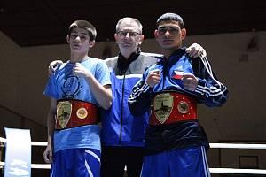 Ondřej Horváth (vpravo) byl v Nitře vyhlášen nejlepším zahraničním boxerem.