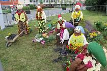 Havířov v květech - soutěž floristů. Na snímku květinoví trpaslíci.