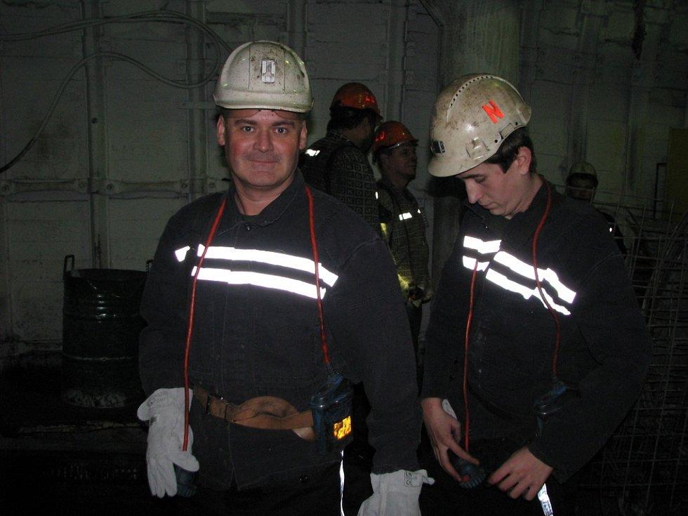 První fárání hornických učňů do podzemí Dolu ČSM.