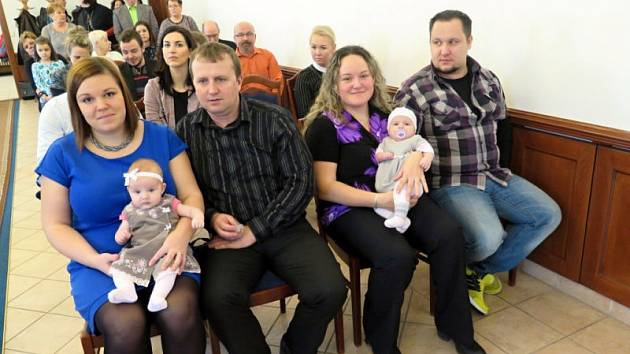 První letošní vítání občánků v neděli 15. ledna v obřadní síni na Zámku v Havířově.