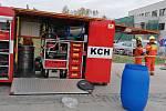 Zásah hasičů u vlakového nádraží v Havířově
