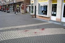 Následky rvačky v centru Havířova.