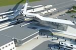 Původní návrh možné podoby havířovského dopravního terminálu