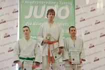 Vítězný David Mec na stupních vítězů ve Wisle.