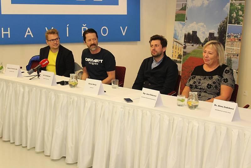 Představení nového internetového seriálu Lajna natáčeného v Havířově.